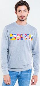 Niebieska bluza Big Star w młodzieżowym stylu z nadrukiem