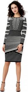 Sukienka POTIS & VERSO z okrągłym dekoltem w stylu casual z długim rękawem