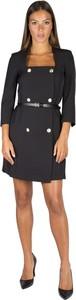 Czarna sukienka Merci mini z długim rękawem