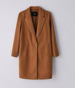 Brązowy płaszcz Cropp