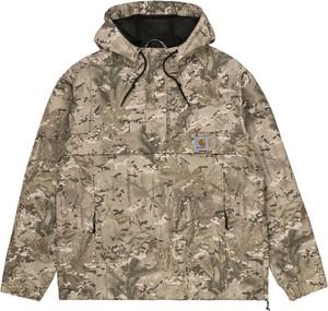 Brązowa bluza Carhartt WIP z nadrukiem w młodzieżowym stylu z polaru