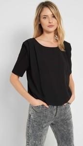 Czarny t-shirt ORSAY z tkaniny z krótkim rękawem z okrągłym dekoltem