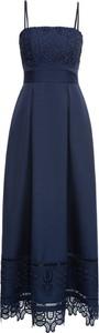 Granatowa sukienka bonprix BODYFLIRT boutique