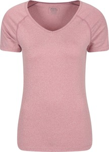 Różowa bluzka Mountain Warehouse z okrągłym dekoltem w stylu casual