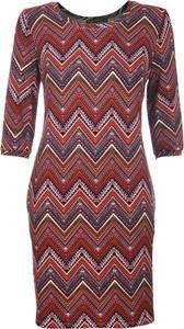 Sukienka Niren z okrągłym dekoltem midi w stylu casual