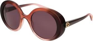 Czerwone okulary damskie Gucci
