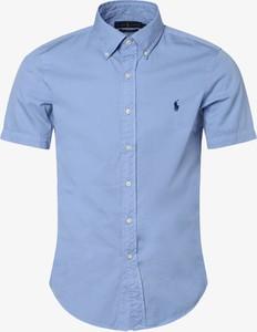 Niebieska koszula POLO RALPH LAUREN z krótkim rękawem