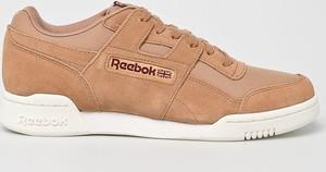 Brązowe buty sportowe Reebok Classic z zamszu