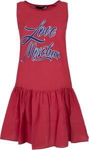 Sukienka Love Moschino bez rękawów