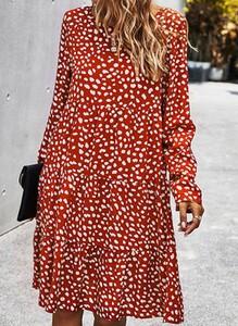 Sukienka Cikelly mini oversize w stylu casual