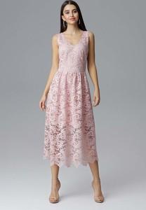 Sukienka Figl z dekoltem w kształcie litery v midi