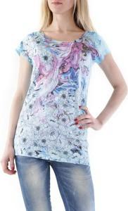 T-shirt Sexy Woman z bawełny z okrągłym dekoltem z krótkim rękawem