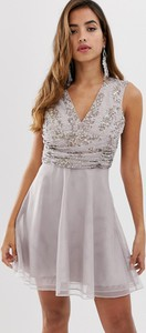 Fioletowa sukienka Asos Design mini