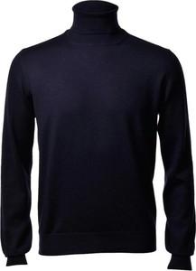 Granatowy sweter Gran Sasso z tkaniny w stylu casual