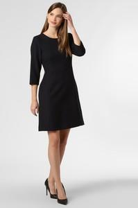 Granatowa sukienka Marie Lund z długim rękawem mini