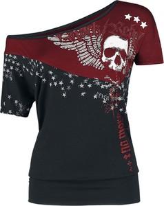 Czarny t-shirt Rock Rebel by EMP z krótkim rękawem