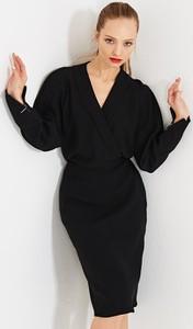 f021e1531c Czarne sukienki z długim rękawem Simple