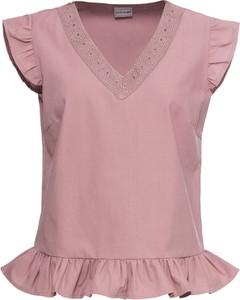 Różowa bluzka bonprix BODYFLIRT