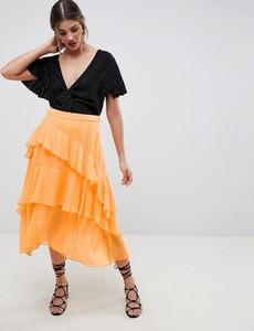 Pomarańczowa spódnica Asos Design midi