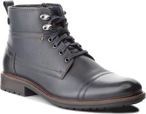 Niebieskie buty zimowe Lasocki For Men ze skóry w stylu casual