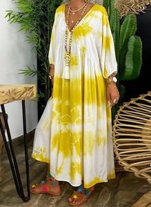 Sukienka Sandbella z długim rękawem maxi w stylu boho