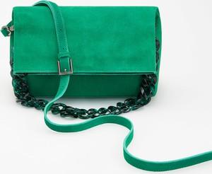 Zielona torebka Reserved na ramię w stylu casual