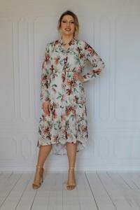 Sukienka arioso.pl z długim rękawem midi