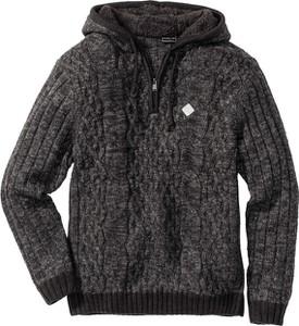Szary sweter bonprix rainbow bez wzorów