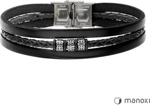 Manoki BA655B czarna bransoletka męska