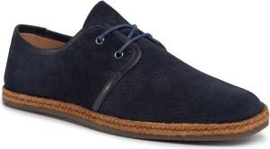 Buty letnie męskie Gino Rossi sznurowane