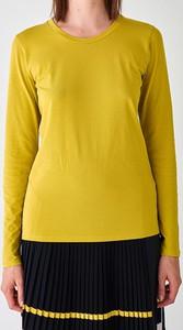 Żółty t-shirt Strenesse z długim rękawem