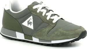 Zielone buty sportowe Le Coq Sportif z zamszu sznurowane
