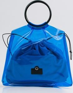 Niebieska torebka Monnari do ręki w wakacyjnym stylu duża