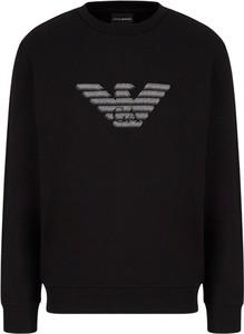 Czarna bluza Emporio Armani z polaru w młodzieżowym stylu