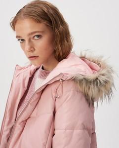 Różowy płaszcz Sinsay w stylu casual