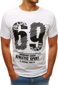T-shirt Dstreet z nadrukiem w młodzieżowym stylu z krótkim rękawem