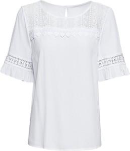 Bluzka bonprix RAINBOW z krótkim rękawem z dekoltem w łódkę w stylu boho