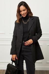 Czarny płaszcz Alice & Charlotte w stylu casual