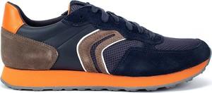 Granatowe buty sportowe Geox w sportowym stylu sznurowane