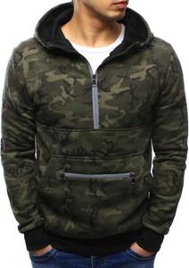 Dstreet bluza męska z kapturem woodland camo (bx3420)