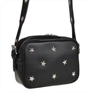 Czarna torebka Real Leather średnia na ramię w stylu casual