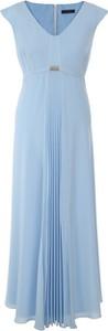 Sukienka Vitovergelis bez rękawów maxi z dekoltem w kształcie litery v