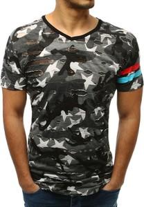 T-shirt Dstreet z krótkim rękawem z tkaniny w młodzieżowym stylu