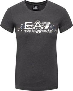 Czarny t-shirt Emporio Armani w młodzieżowym stylu