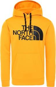 Żółta bluza The North Face z tkaniny w sportowym stylu