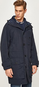 Niebieska kurtka Tommy Hilfiger w stylu casual z bawełny