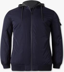 Niebieska kurtka ANGELO LITRICO z bawełny w stylu casual