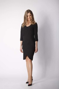 Sukienka Nommo mini z długim rękawem asymetryczna