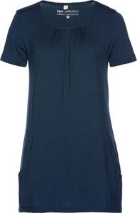 Granatowy t-shirt bonprix bpc selection