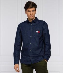 Niebieska koszula Tommy Jeans z bawełny